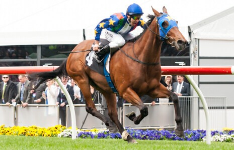 Super Cool winning the Mitchelton Wines Vase at Moonee Valley - photo by Race Horse Photos Australia (Steven Dowden)