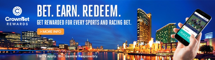 Every time you place a bet with CrownBet, you'll earn CrownBet Rewards Points. Be a part of this exciting and unique loyalty programme. It's a game-changing partnership between CrownBet and Crown Resorts, which gives you the ability to earn Points, benefits and privileges like never before.