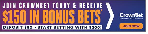 CrownBet Join now & receive $150 in bonus bets