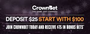 crown bet 25:75free