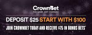 crown bet 25:75free