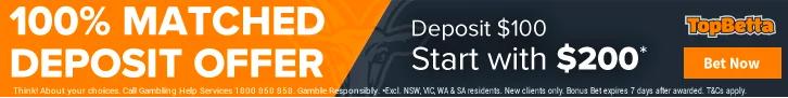TopBetta - Deposit $100 Start with $200.png