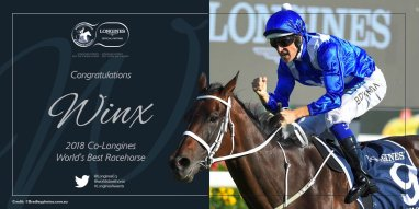 winx co-longines world's best racehorse 2018